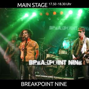 Breakpoint Nine - Hard/Heavy Rock aus Groningen - MAIN STAGE 17.50 Uhr
