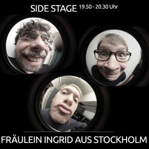 Fräulein Ingrid aus Stockholm, kurz FIaS, ist eine dreiköpfige Pop-/Rockband aus Bielefeld und Umgebung und wird um 19.50 Uhr das Abendprogramm auf der SIDE STAGE eröffnen