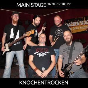 KNOCHENTROCKEN aus Dörpen mit Punk/Rock/Alternative von 16.30 - 17.10 Uhr auf der MAIN STAGE