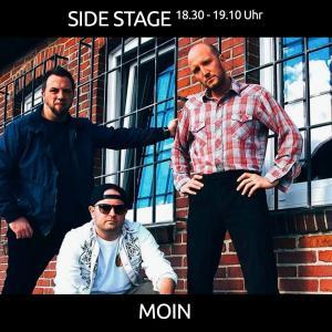 MOIN aus Quakenbrueck mit Independent Rock ab 18.30 Uhr auf der SIDE STAGE