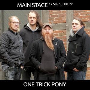 ONE TRICK PONY aus Loeningen mit Rock ab 17.50 Uhr auf der MAIN STAGE